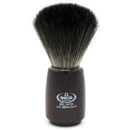 Omega Black Hi-Brush Synthetic Badger Brush