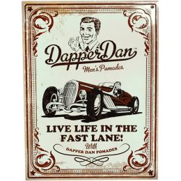 Dapper Dan Metal Embossed Wall Sign