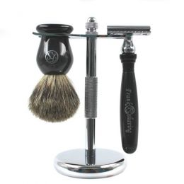 Frank Shaving 3 Piece Shaving Set - Black