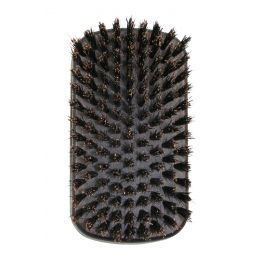 Jack Dean Gents Military Brush - Dark Wood