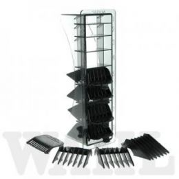 Wahl No. 1-8 BLACK Plastic Combs in Caddy