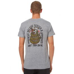Uppercut Deluxe Don't Trim On Me T-Shirt in Grey
