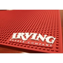 Irving Barber Co. Maroon Work Station Mat
