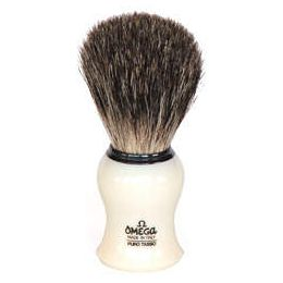 Omega Pure Black Badger Shaving Brush