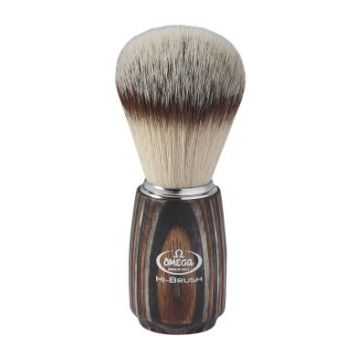 Omega Hi-Brush Synthetic Badger Brush - Multilayered Handle