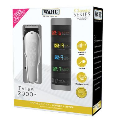 Wahl Taper 2000 Clipper with 5 FREE Styling Products