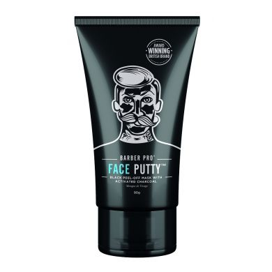 Barber Pro Face Putty Black Peel-Off Mask - 90g Tube