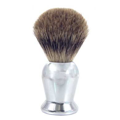 Frank Shaving Badger Hair Shaving Brush - Chrome Handle