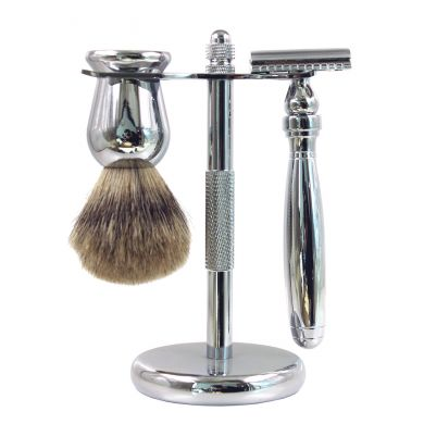 Frank Shaving 3 Piece Shaving Set - Chrome