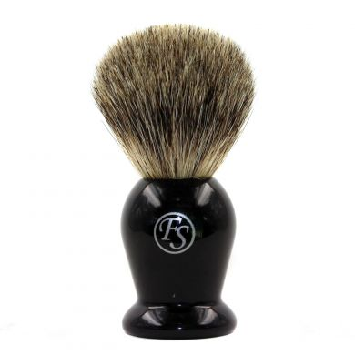 Frank Shaving Badger Shaving Brush - Black Handle