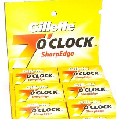 100 x Gillette 7 O Clock Double Edge Razor Blades
