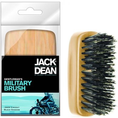 Jack Dean Gents Military Brush - Light Wood