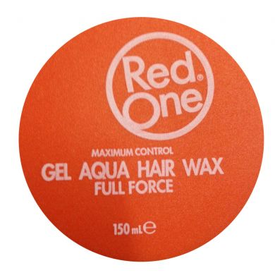 Red One Gel Aqua Hair Wax Full Force Peach ORANGE - 150ml