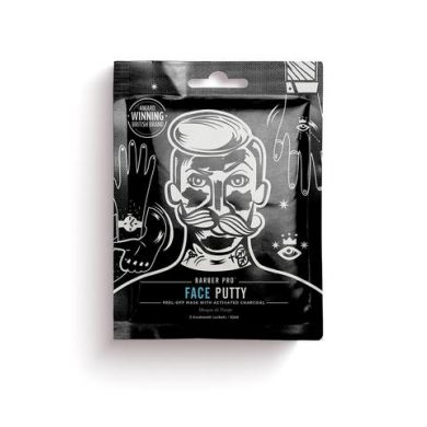 Barber Pro Face Putty - Black Peel-Off Mask (3 x Sachets - 7g)